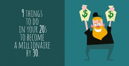 9 things to do in your 20s to become a millionaire by 30 [Infographic]