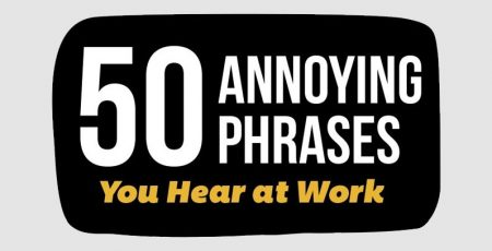 50 Annoying Business Phrases You Should Stop Using [Infographic]