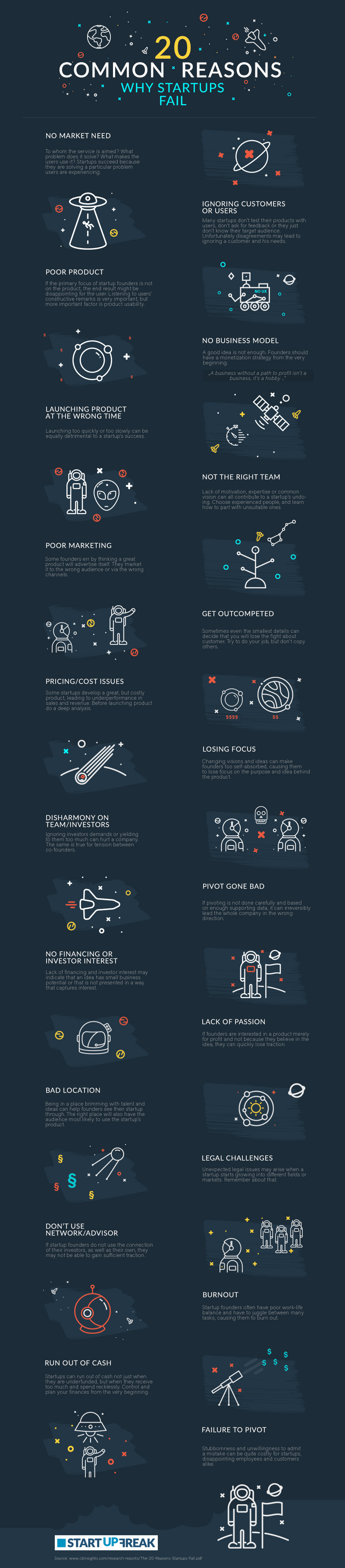 Common Reasons Startups Fail Infographic