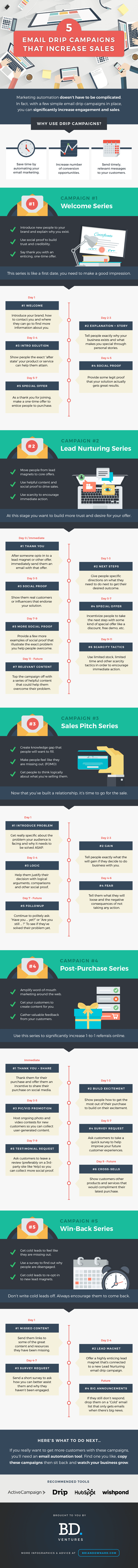 Increase Sales with Email Campaigns Infographic
