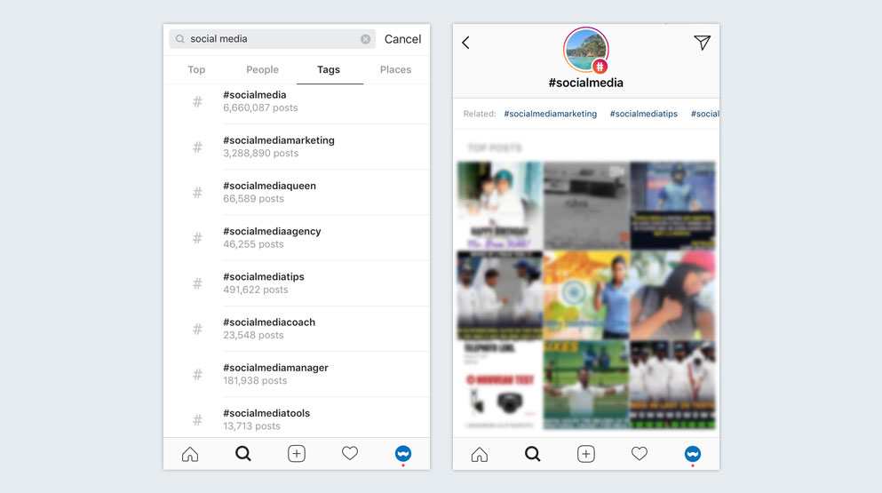 Instagram find hashtags