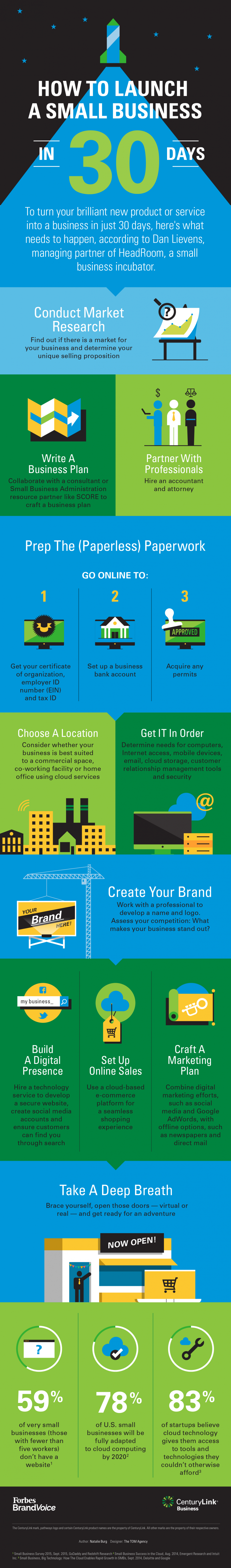 Launch a Business Infographic