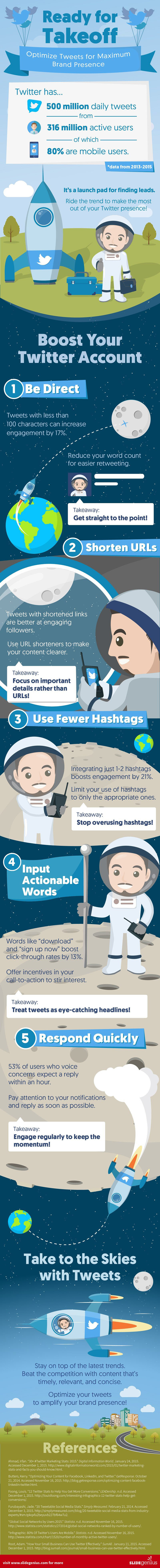 optimise tweets for maximum engagement infographic