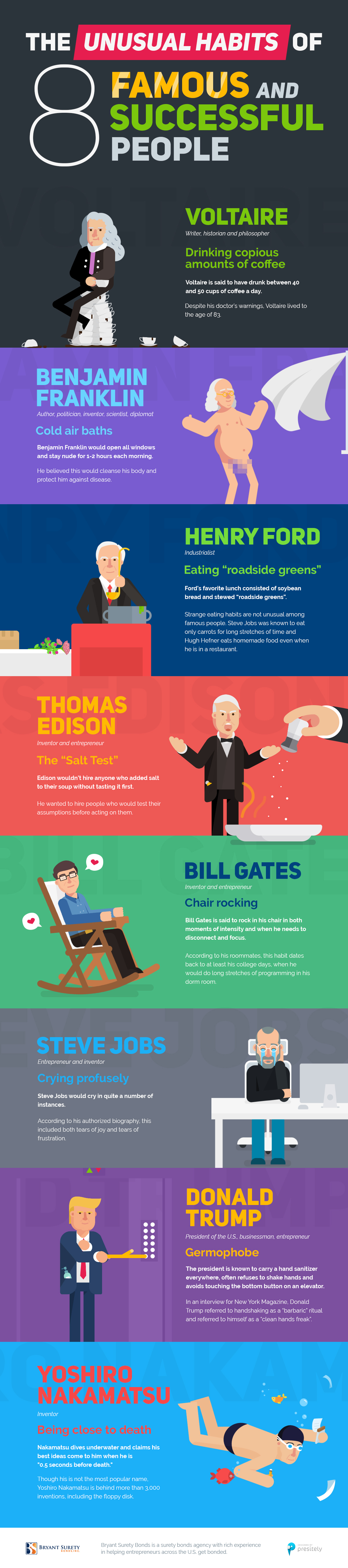 unusual habits of successful people infographic